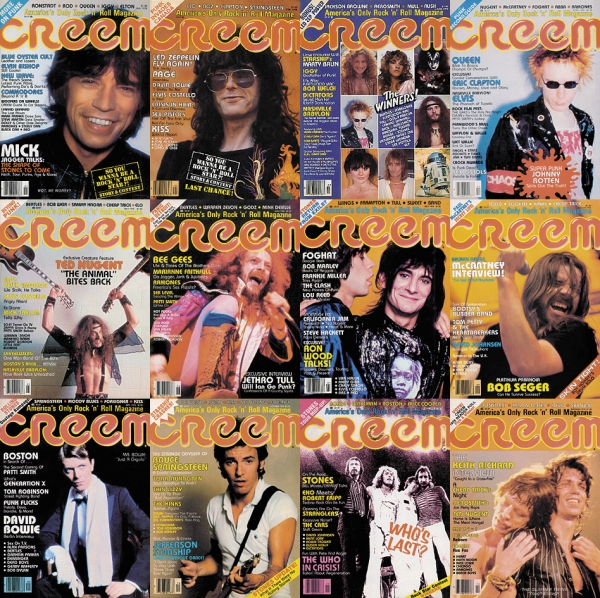 CREEM covers circa 1978